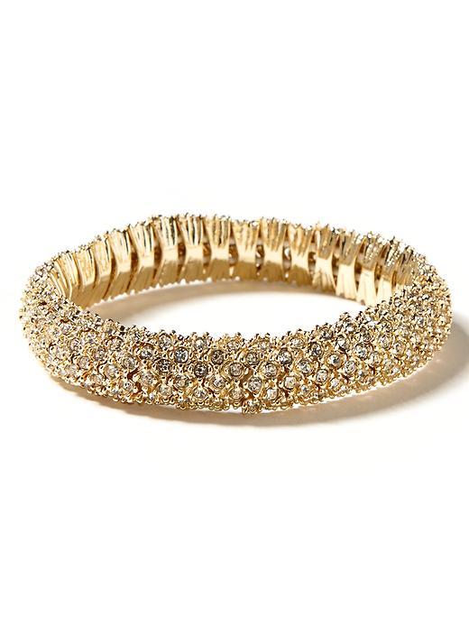 Banana Republic Crystal Stretch Bracelet - Gold - Banana Republic Canada