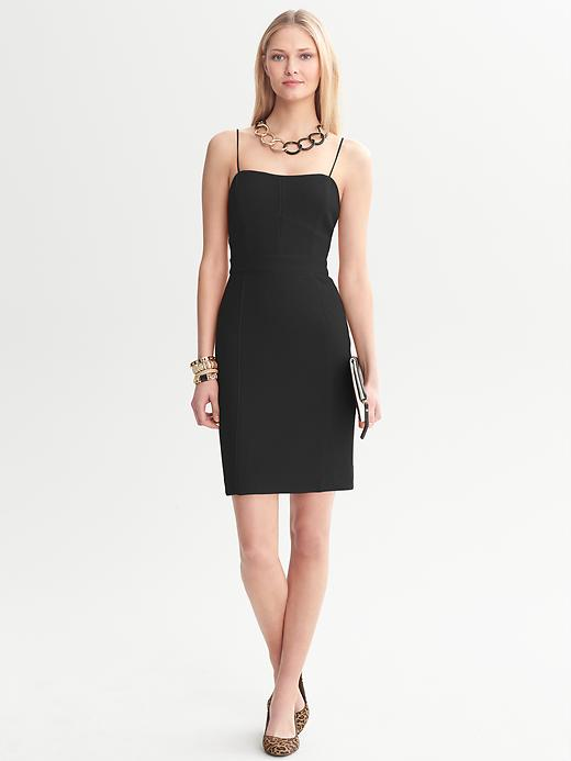 Banana Republic Piped Corset Dress - Black - Banana Republic Canada