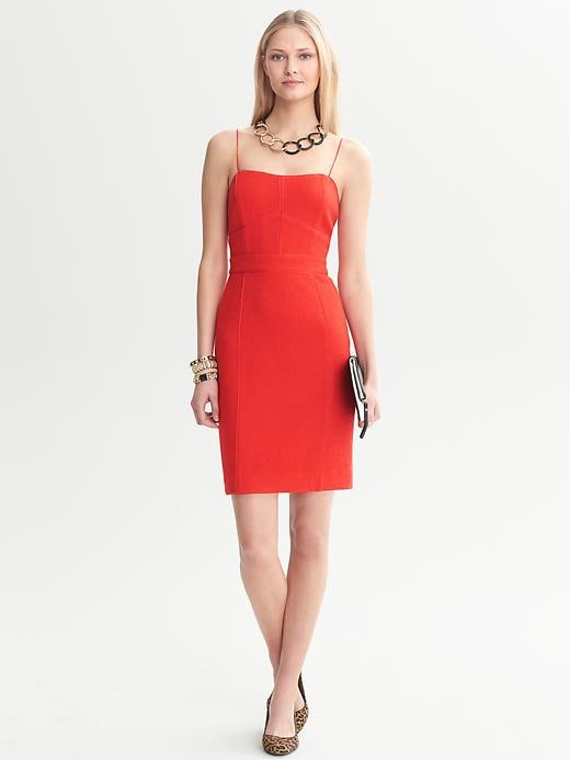 Banana Republic Piped Corset Dress - New vermillion - Banana Republic Canada
