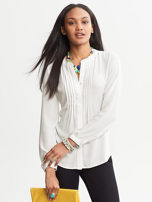 Banana Republic Pintuck Crepe Blouse - Cocoon - Banana Republic Canada