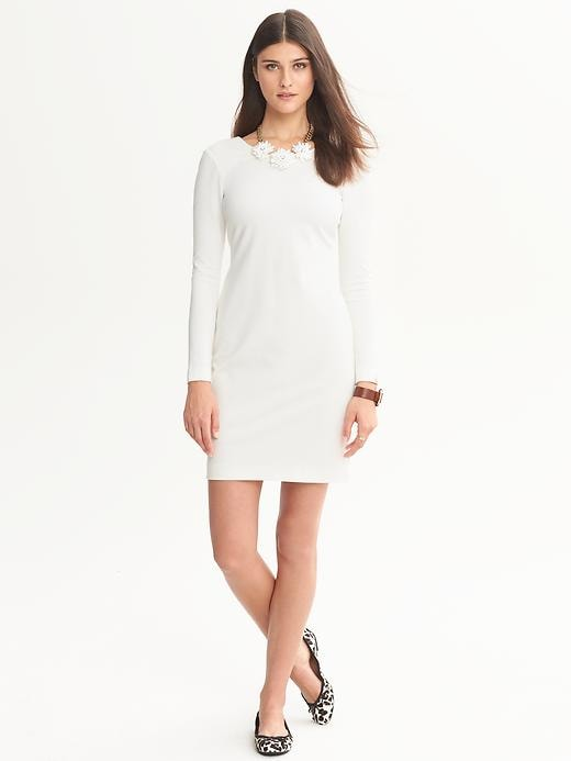 Banana Republic Ponte Zip Back Dress - Cocoon - Banana Republic Canada