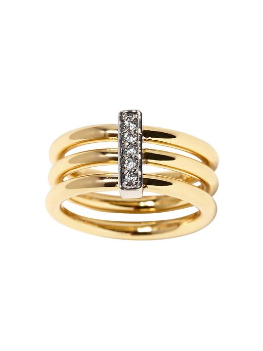 Banana Republic Three Band Ring - Gold - Banana Republic Canada