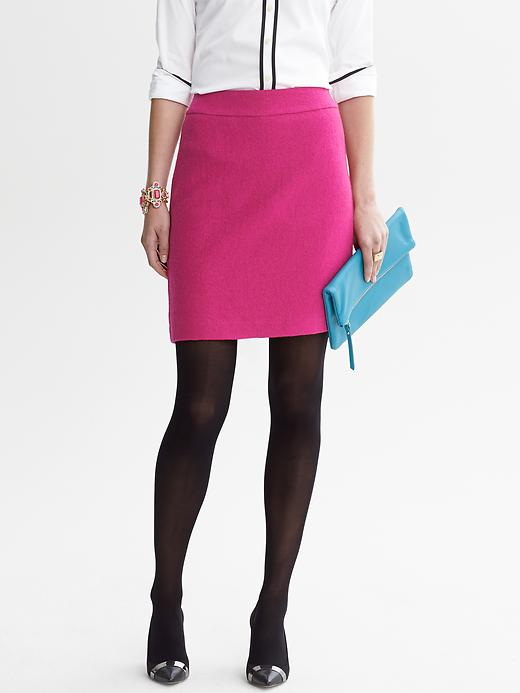 Banana Republic Boucle Zip Pencil Skirt - Salsa - Banana Republic Canada