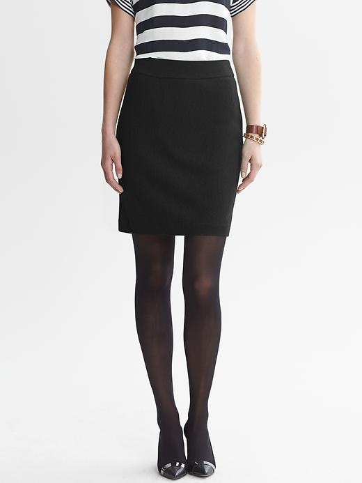 Banana Republic Boucle Zip Pencil Skirt - Black - Banana Republic Canada