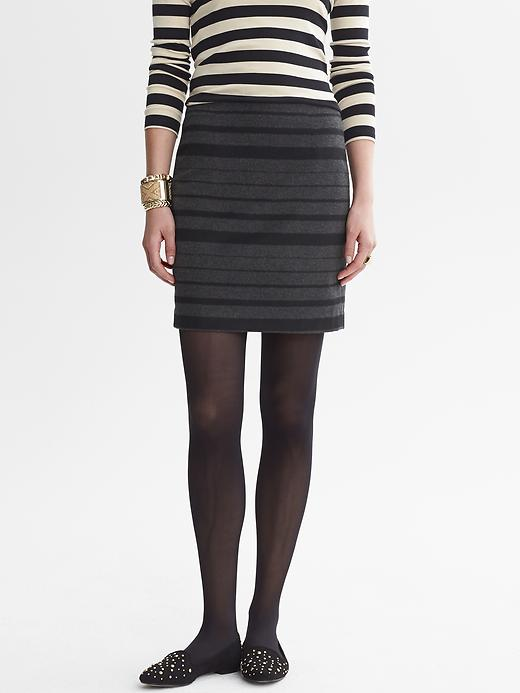 Banana Republic Charcoal Striped Mini - Charcoal - Banana Republic Canada