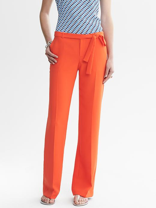 Banana Republic Orange Belted Wide Leg Pant - Orange bliss - Banana Republic Canada