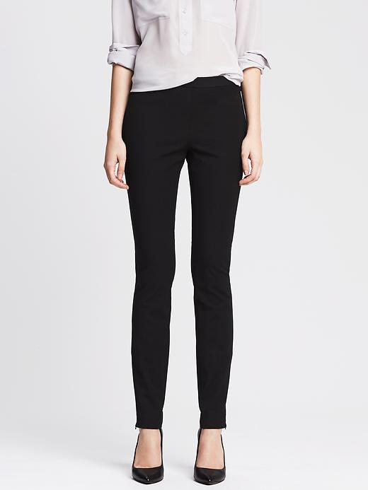 Banana Republic Sloan Fit Slim Ankle Zip Pant - Black - Banana Republic Canada