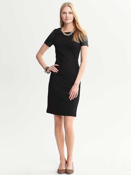 Banana Republic Simone Ponte Knit Dress - Black - Banana Republic Canada