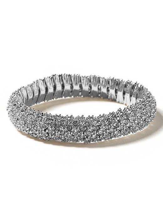 Banana Republic Crystal Stretch Bracelet - Silver - Banana Republic Canada