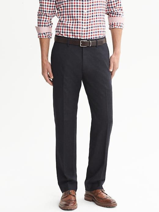 Banana Republic Tailored Slim Fit Flannel Pant - Blue navy - Banana Republic Canada
