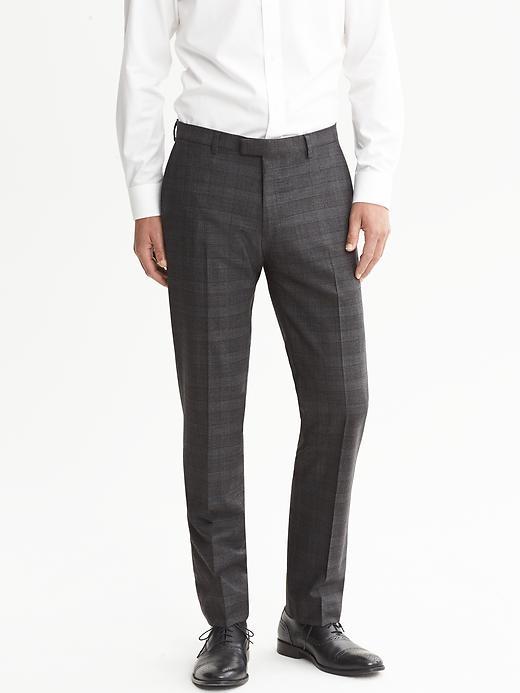 Banana Republic Modern Slim Fit Charcoal Wool Suit Trouser - Charcoal - Banana Republic Canada