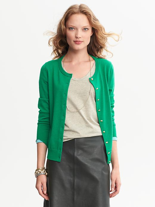 Banana Republic Anna Cardigan - Brilliant jade - Banana Republic Canada