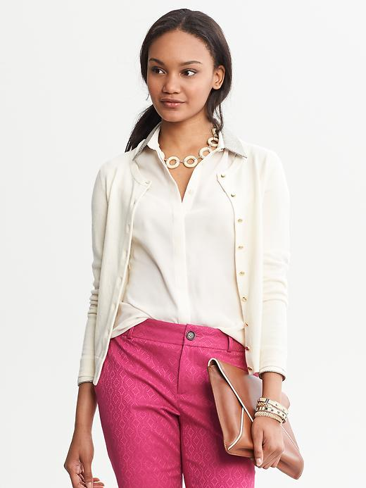 Banana Republic Anna Cardigan - Cream - Banana Republic Canada