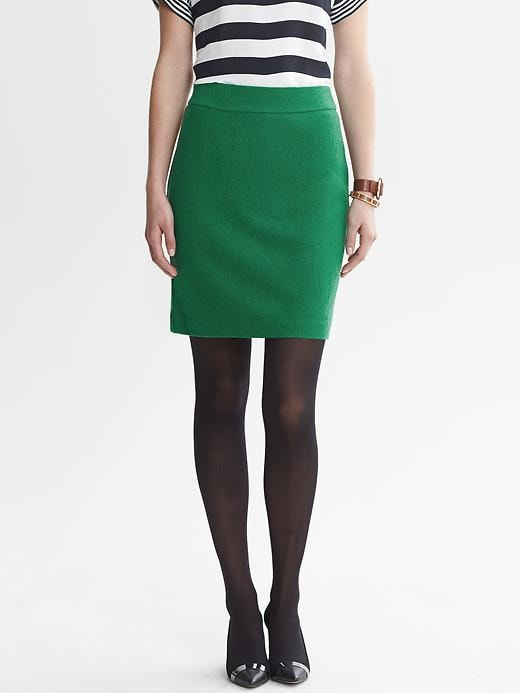 Banana Republic Boucle Zip Pencil Skirt - Evergreen - Banana Republic Canada