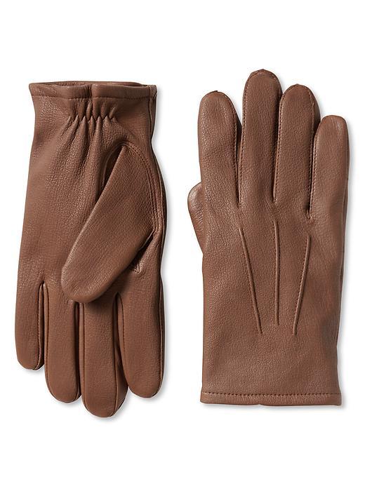 Banana Republic Deerskin Leather Glove - Cognac - Banana Republic Canada