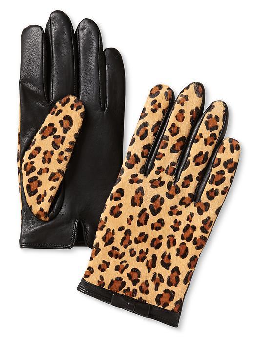 Banana Republic Haircalf Bow Glove - Leopard - Banana Republic Canada