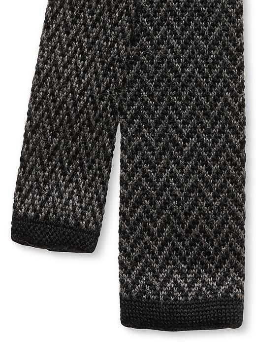 Banana Republic Chevron Knit Skinny Tie - Slate grey/black - Banana Republic Canada