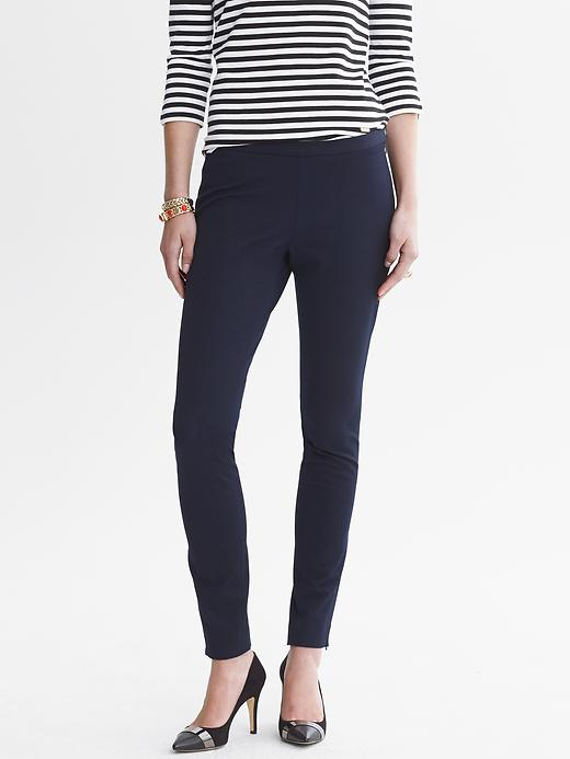 Banana Republic Sloan Fit Slim Ankle Zip Pant - True navy - Banana Republic Canada