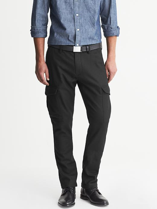 Banana Republic Slim Fit Wool Cargo Pant - Black - Banana Republic Canada