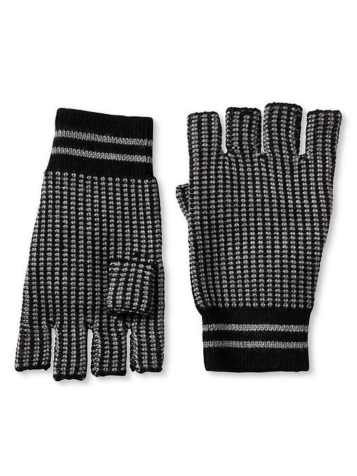 Banana Republic Birdseye Fingerless Glove - Slate grey/black - Banana Republic Canada