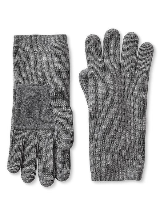 Banana Republic Flannel Patch Ribbed Glove - Grey heather - Banana Republic Canada