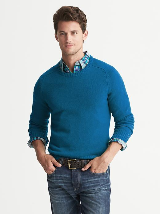 Banana Republic Cashmere Crew - Blue heather - Banana Republic Canada