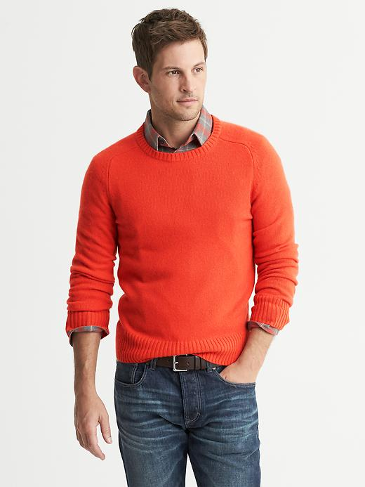 Banana Republic Cashmere Crew - Warm orange - Banana Republic Canada