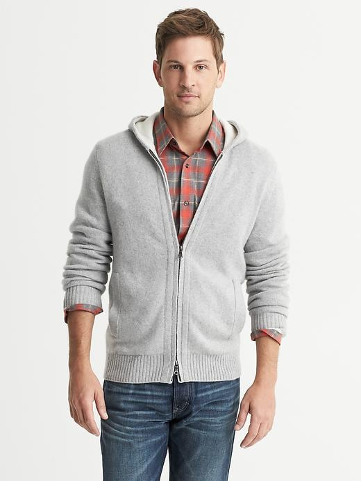 Banana Republic Cashmere Hooded Cardigan - Silver star - Banana Republic Canada