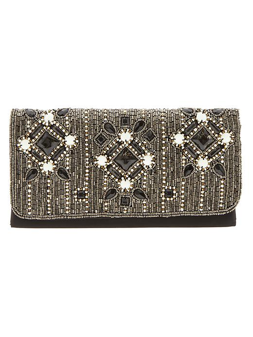 Banana Republic Sofie Beaded Clutch - Black - Banana Republic Canada