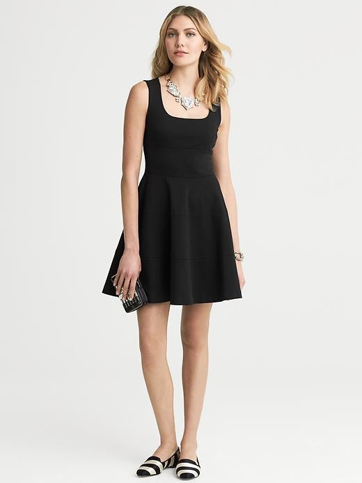 Banana Republic Ponte Fit And Flare Dress - Black - Banana Republic Canada