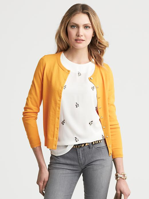 Banana Republic Anna Cardigan - Saffron - Banana Republic Canada
