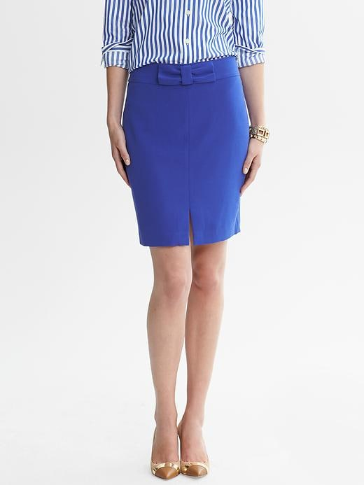 Banana Republic Blue Bow Skirt - Royal blue - Banana Republic Canada