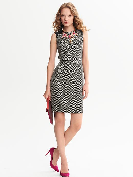 Banana Republic Piped Tweed Sheath - Black combo - Banana Republic Canada