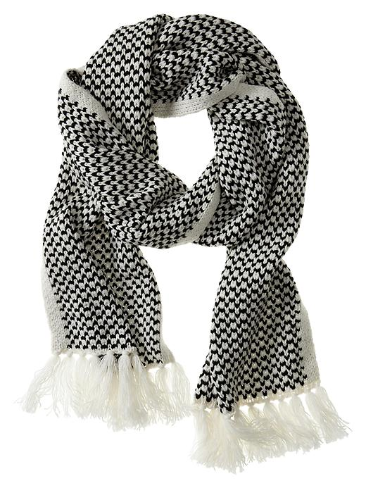Banana Republic Birdseye Scarf - White/black - Banana Republic Canada