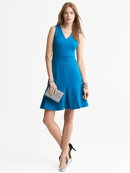 Banana Republic Ponte Fit And Flare Dress - Bright teal - Banana Republic Canada