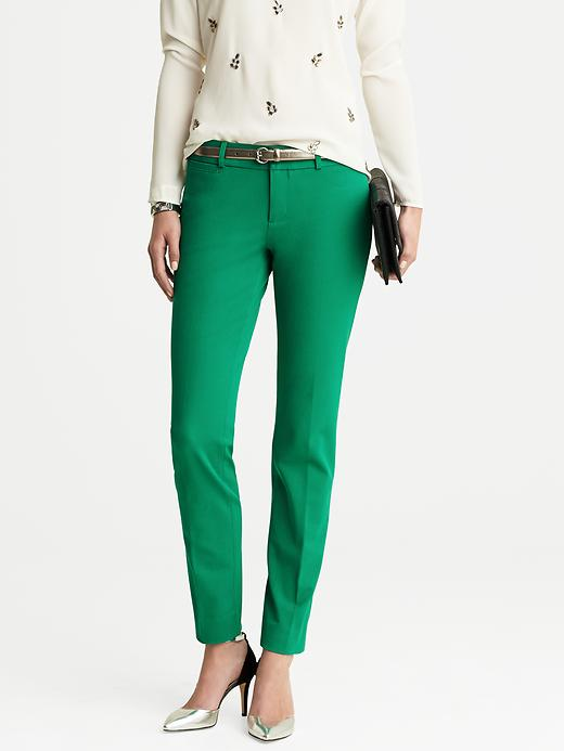 Banana Republic Sloan Fit Slim Ankle Pant - Brilliant jade - Banana Republic Canada
