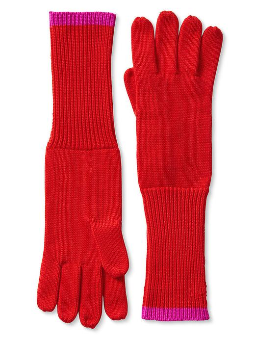 Banana Republic Colorblock Long Glove - Red 1 - Banana Republic Canada