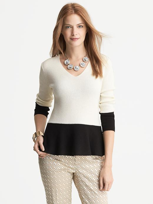 Banana Republic Colorblock Peplum Pullover - Cocoon - Banana Republic Canada