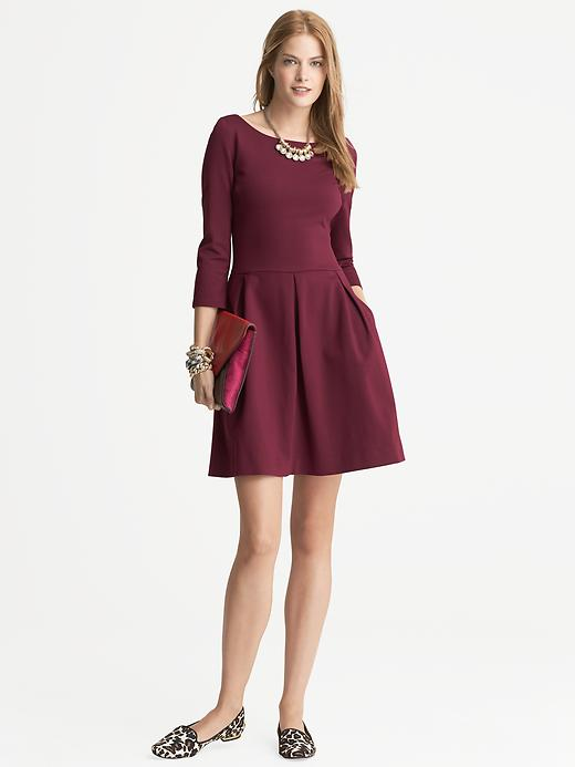 Banana Republic Ponte Fit And Flare Dress - Rosewood - Banana Republic Canada