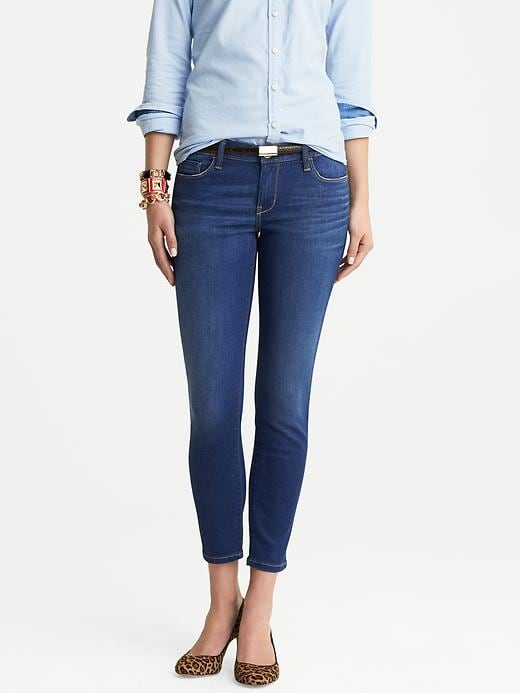Banana Republic Distressed Indigo Skinny Ankle Jean - Indigo - Banana Republic Canada