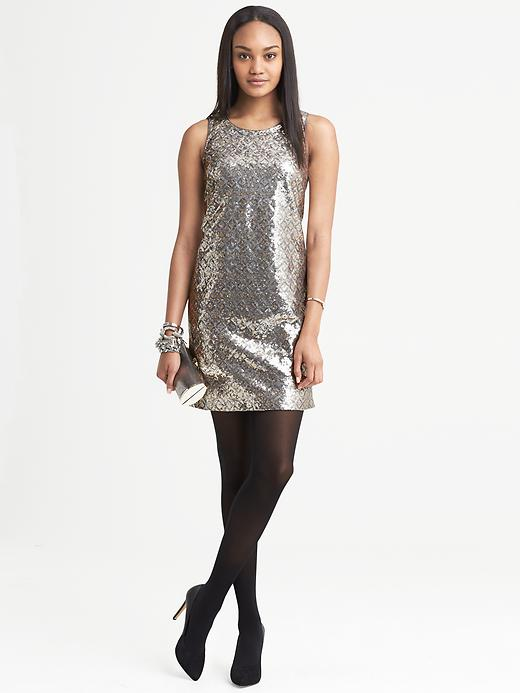 Banana Republic Sequin Shift - Gold - Banana Republic Canada
