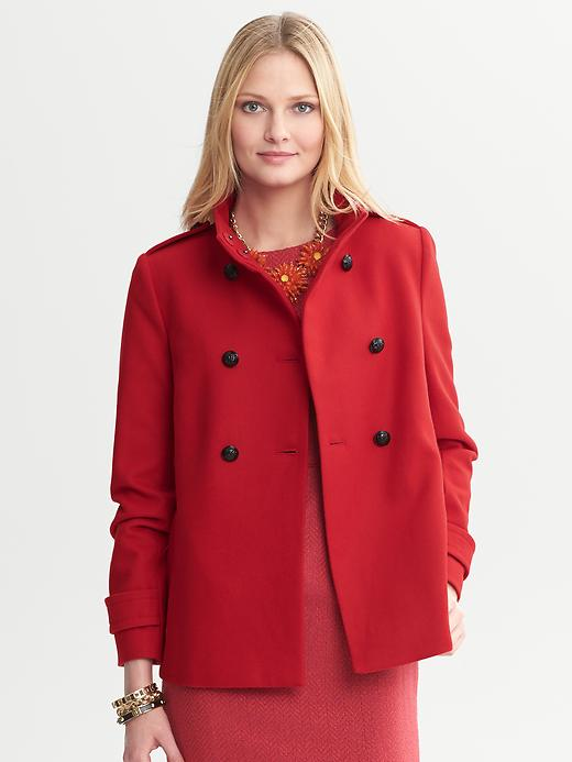 Banana Republic Short Swing Coat - Saucy red - Banana Republic Canada