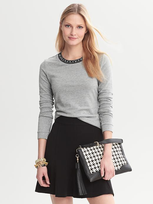 Banana Republic Beaded Pullover - Tipo grey - Banana Republic Canada