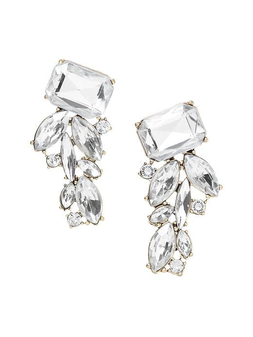 Banana Republic Peacock Stud Earring - Clear crystal - Banana Republic Canada