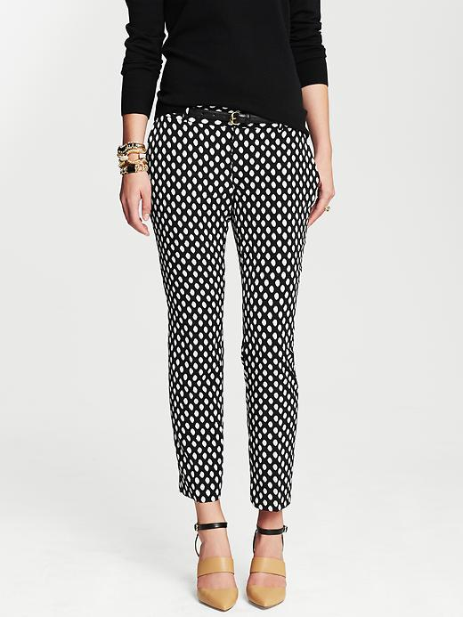 Banana Republic Camden Fit Dot Print Ankle Pant - Black dot - Banana Republic Canada