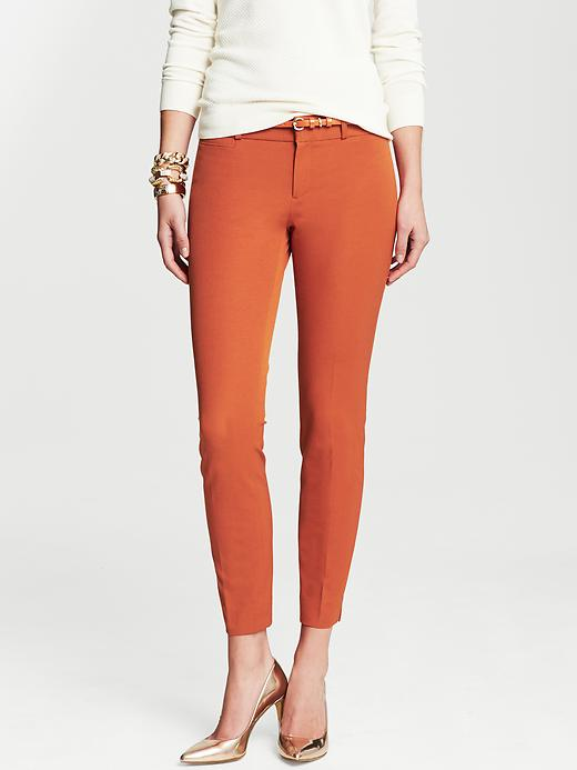 Banana Republic Sloan Fit Slim Ankle Pant - Rusted orange - Banana Republic Canada
