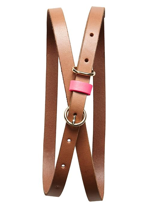 Banana Republic Leather Tab Skinny Belt - Pink - Banana Republic Canada