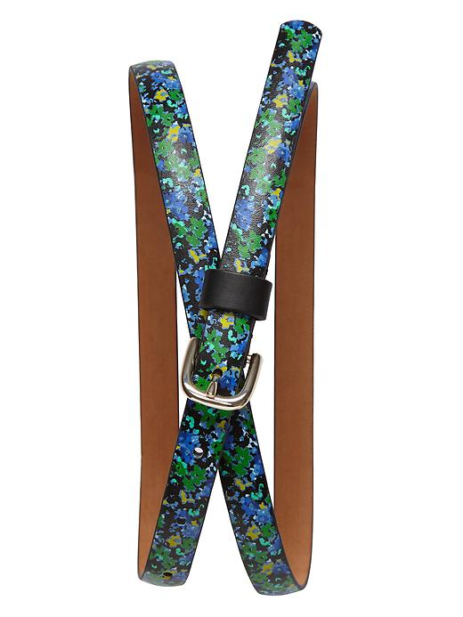 Banana Republic Floral Belt - Green floral - Banana Republic Canada