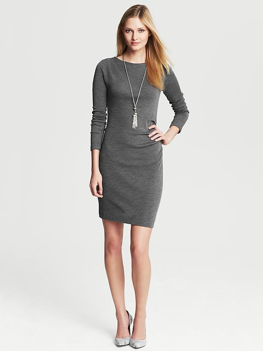 Banana Republic Draped Knit Dress - Heather grey - Banana Republic Canada