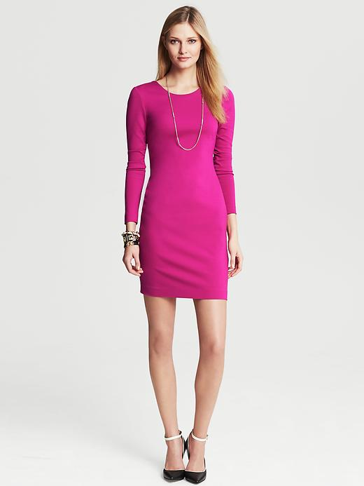 Banana Republic Ponte Zip Back Dress - Salsa - Banana Republic Canada